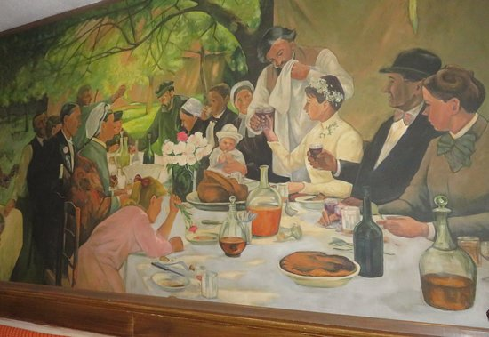 Chevy Chase, Μέριλαντ: Delightful Mural Depicting A Country Wedding in France