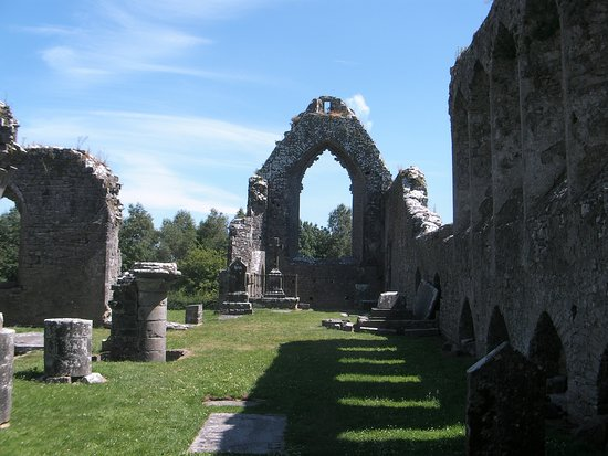 County Roscommon, Ireland: interior of the Friary looking east with the trancept on your left.