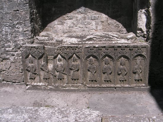 County Roscommon, Ireland: King Felim O'Conor of Connaught's tomb in acanopied niche in the chancel.