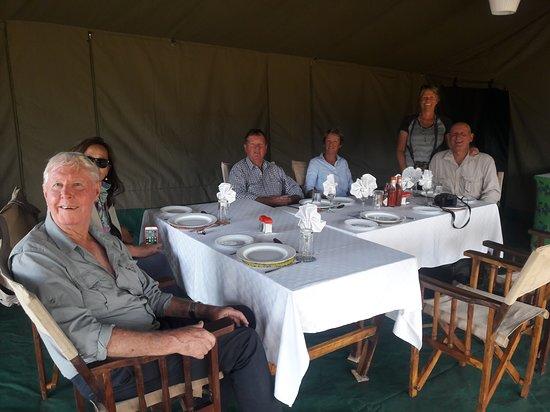 Cross to Africa Safaris: Lunch time at Kati Kati Tented camp in Serengeti National Park