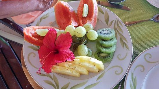 Vahine Island - Private Island Resort & Spa: Bereits das Frühstück beginnt mit einem Traum