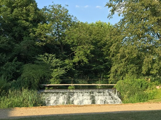 Champneys Henlow: View from our room to the waterfall