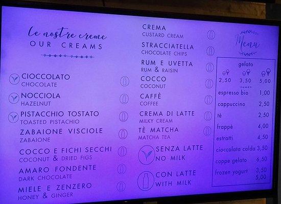 FONTE della SALUTE Organic Ice Cream: Gusti creme