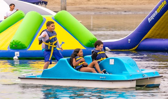 Newport Dunes Waterfront Resort: We offer pedal boats, standup paddleboard, Hydrobike rentals which kids & adults love.