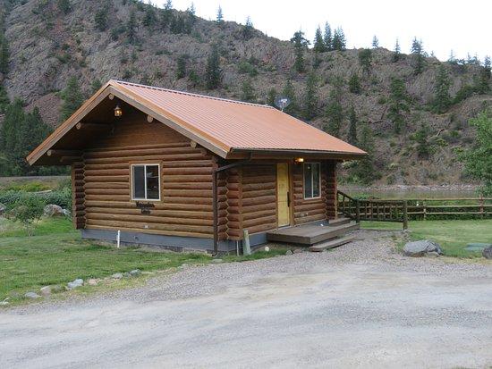 Paradise, MT: Merriwether Lewis authentic log cabin.