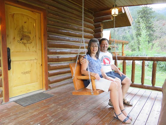 Paradise, MT: Front porch with swing.