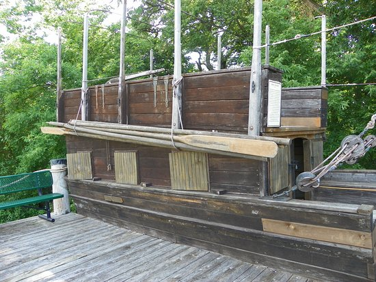 Replica of one of the boats used by Lewis and Clark.
