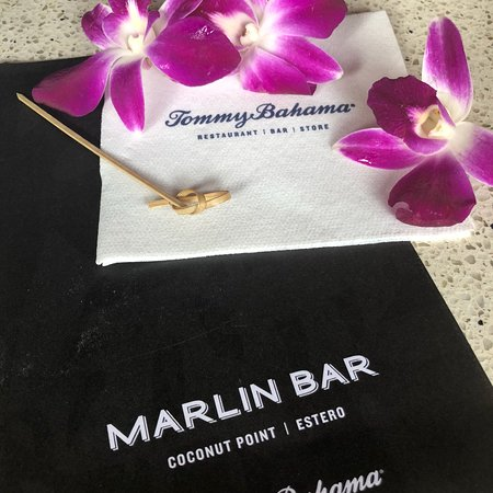 Tommy Bahama Marlin Bar: A best crew ever at the Coconut Point Marlin Bar!   Corey, Danny, and Kyle.   Kudos to Arturo do