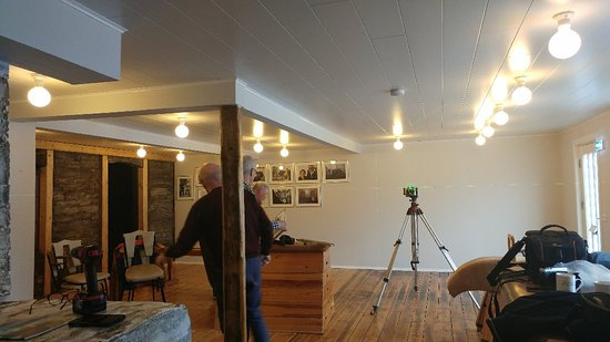 Olafsfjordur, Iceland: Preparing a new exibition in Pálshús. A story of 90 years of  Magnus Gamalielsson hf