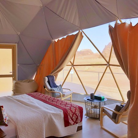 One of the most beautiful hotel rooms ever in the heart of the Wadi Rum desert