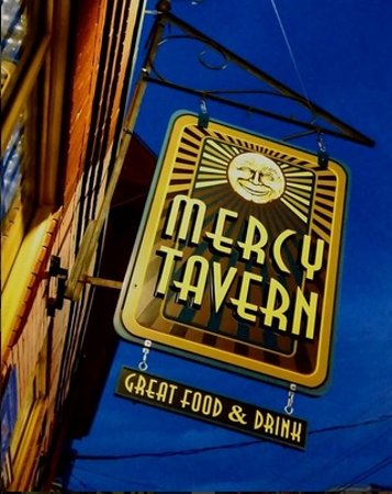 Mercy Tavern: outside sign