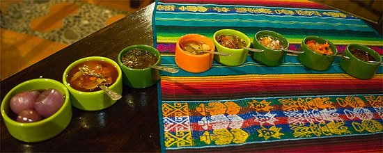 Tiesto's : array of sauces/ceviche/pickled vegetables