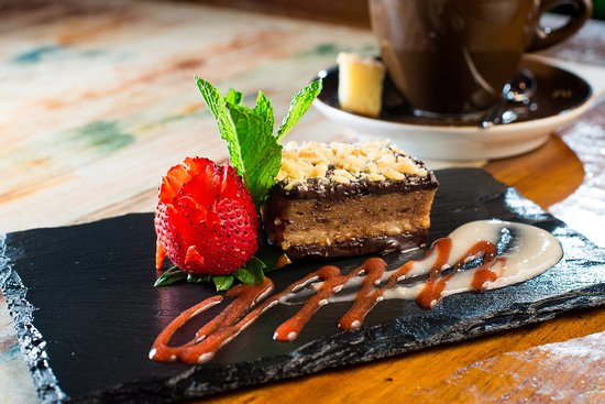 Yemanja Woodfired Grill: Raw Vegan Snickers bar