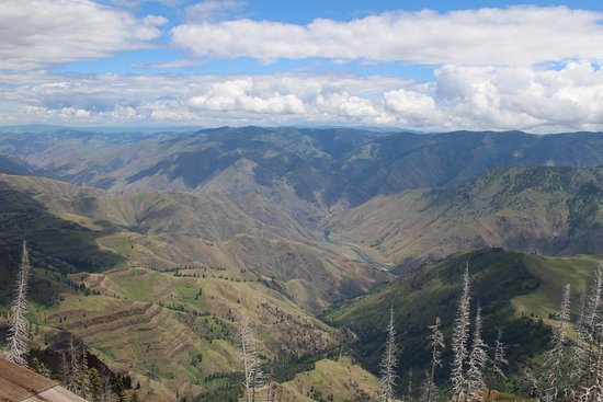 Imnaha, OR: Hells Canyon and Snake River from Hat Point