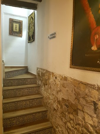 Crown Of India: Stairs to the roof terrace