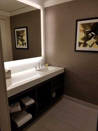 Hotel Karlan San Diego - a DoubleTree by Hilton: extra sink and vanity area across from bathroom