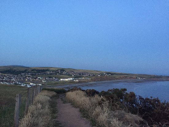 St. Bees, UK: Can you spot the seacote hotel?