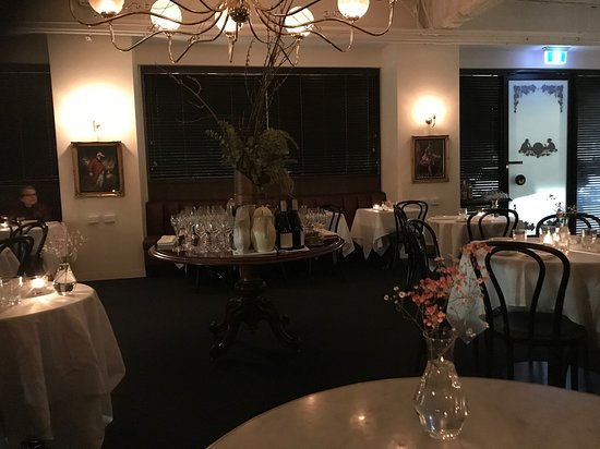 Greater Melbourne, Avustralya: Dining area (it was light outside)