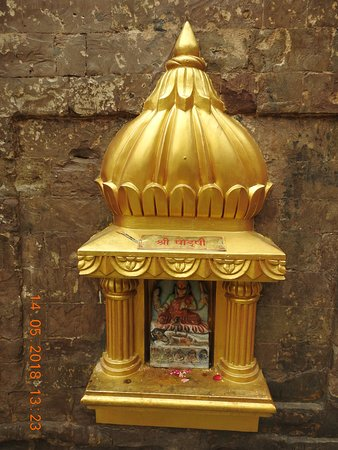 One of the 9 Swaroopas of the Devi at Baglamukhi Temple