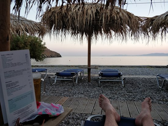 Kionia, Greece: View from the beach