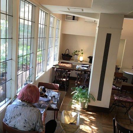 Cafe Yamaneko: light streaming through the window