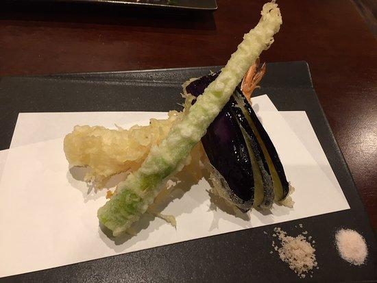 Jugemu: 「昼のそば懐石」の天ぷらです。