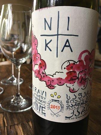 Nika Winery: Weinetikett