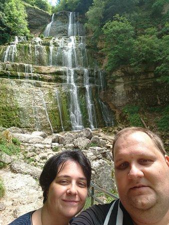Le Deschaux, Frankrike: Ballade à proximité à La cascade de L'éventail (Cascade du Hérisson)