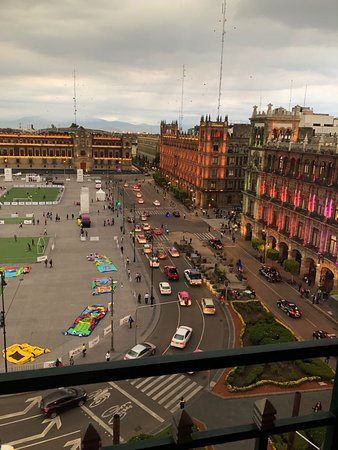 Gran Hotel Ciudad de Mexico: View from Terrace Restaurant. A must see!