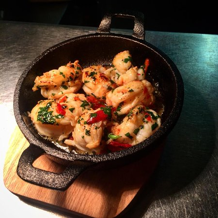 Drogheda, Irlanda: Grilled Prawns in Garlic & Chilli
