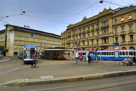 Paradeplatz is also off Bahnhofstrasse