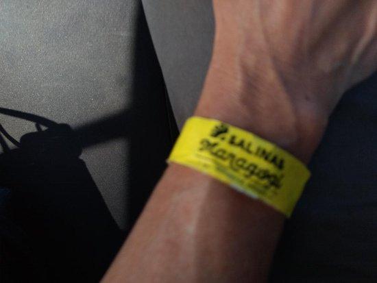 Salinas Maragogi All Inclusive Resort: Essa é a pulseirinha que te colocam quando chegas ao hotel.