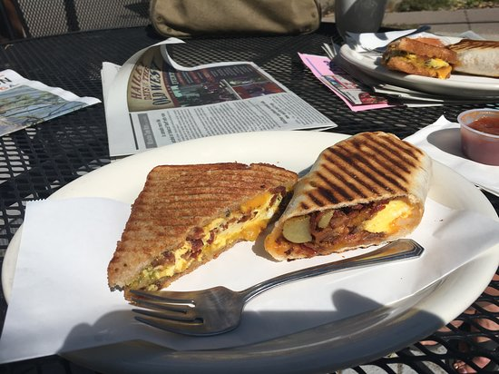 Hailey, ID: Great breakfast sandwiches, 3 choices for sour cream for burrito!