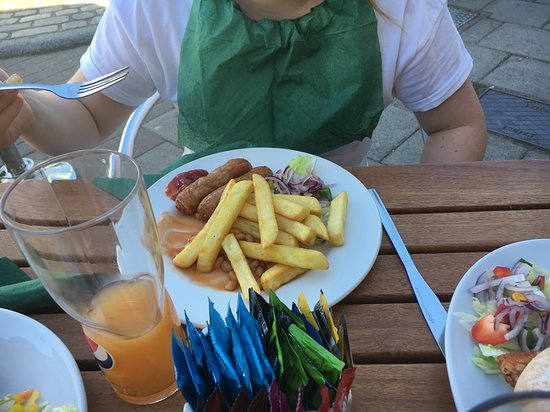 The Fountain Bar: Kids Menu Sausages Beans and Chips
