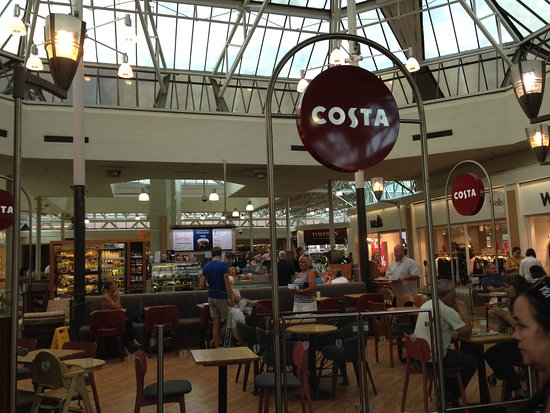 Hempstead Valley: Costa inside mall (bigger one outside)