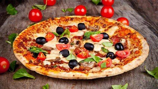 Børkop, Danmark: Valentino pizza