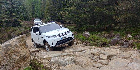 Land Rover Experience Scotland: The Rock Climb, mid-climb