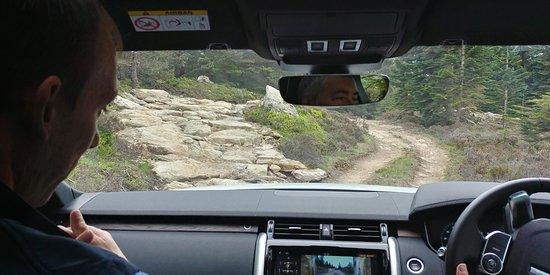Land Rover Experience Scotland: The Rock Climb, approach