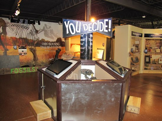 Copley, OH: Creation Education Museum - You Decide Kiosk