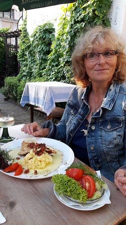 Klingenthal, Allemagne : Scholle auf Kartoffelstampf, lecker!
