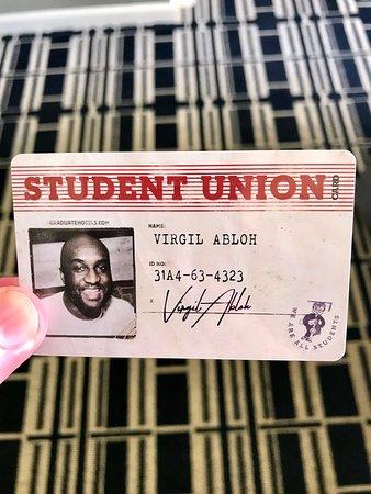 Graduate Madison: My room card
