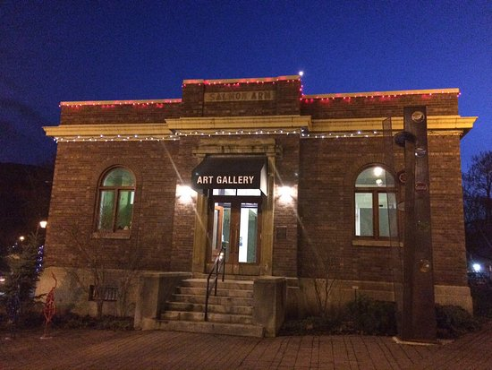 The Salmon Arm Art Gallery in the historic post office building.