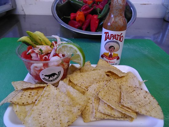 Colfax, CA: Ceviche and chips