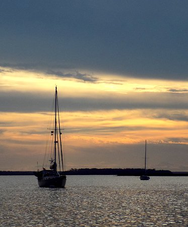 Amelia River Cruises & Charters: Sunset view at the end of tour.