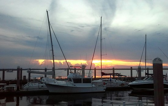 Amelia River Cruises & Charters: Sunset view from dock.