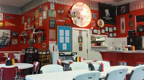 Social Circle, GA: Inside diner.