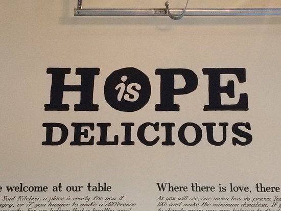 uno de los lemas del lugar - Picture of JBJ's Soul Kitchen