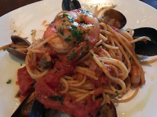 Spaghetti del Trabocco at Trabocco Kitchen and Cocktails in Alameda.