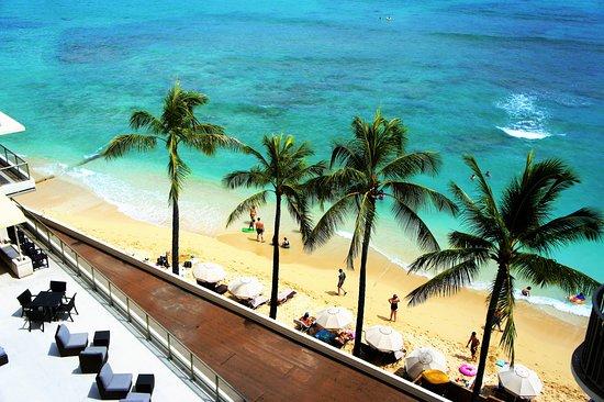 Outrigger Reef Waikiki Beach Resort : オーシャンタワー8階からの眺望