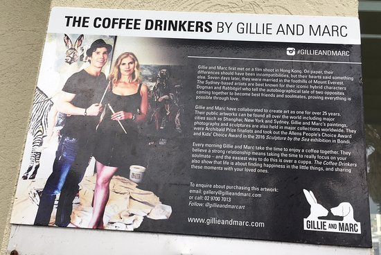 Early Morning Coffee: Gillie and Marc's art.